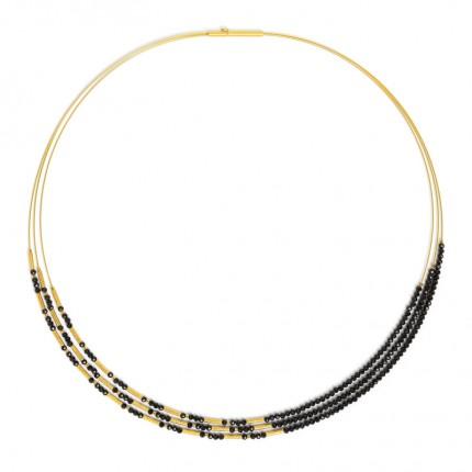 BERND WOLF Collier CLINIO Silber Goldplattierung Spinell 85233496-43