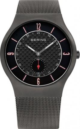 Bering Herrenuhr Classic Slim Quarz Grau 11940-377